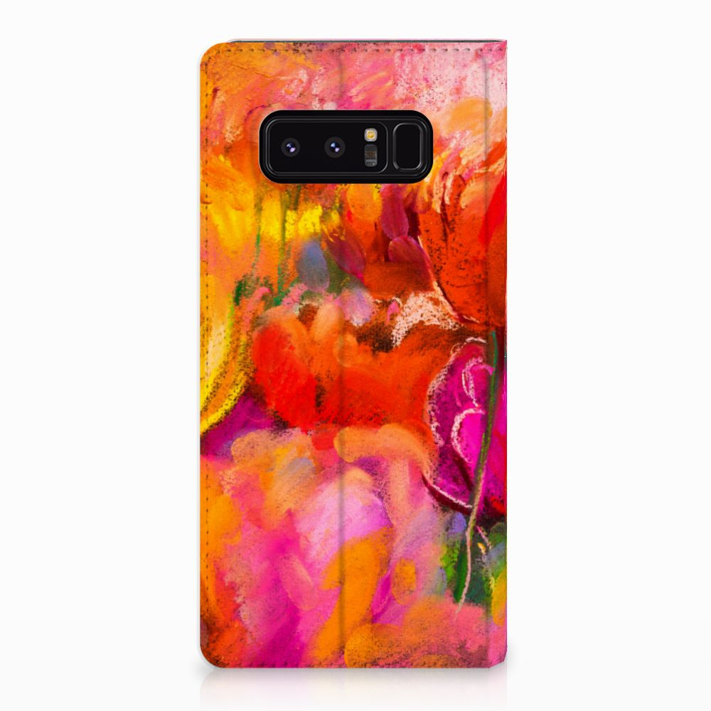 Samsung Galaxy Note 8 Standcase Hoesje Design Tulips