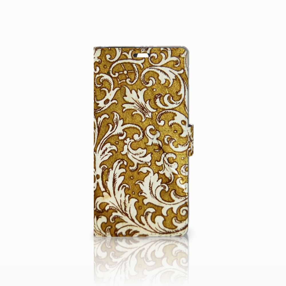 Sony Xperia C5 Ultra Boekhoesje Design Barok Goud