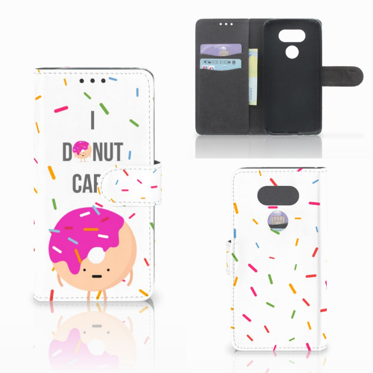 LG G5 Book Cover Donut Roze