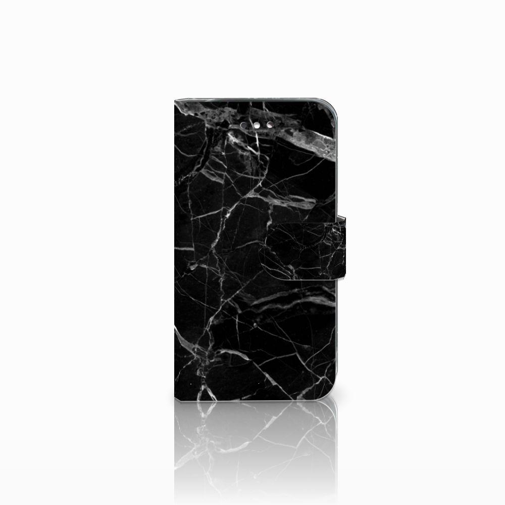 Samsung Galaxy S4 Uniek Boekhoesje Marmer Zwart
