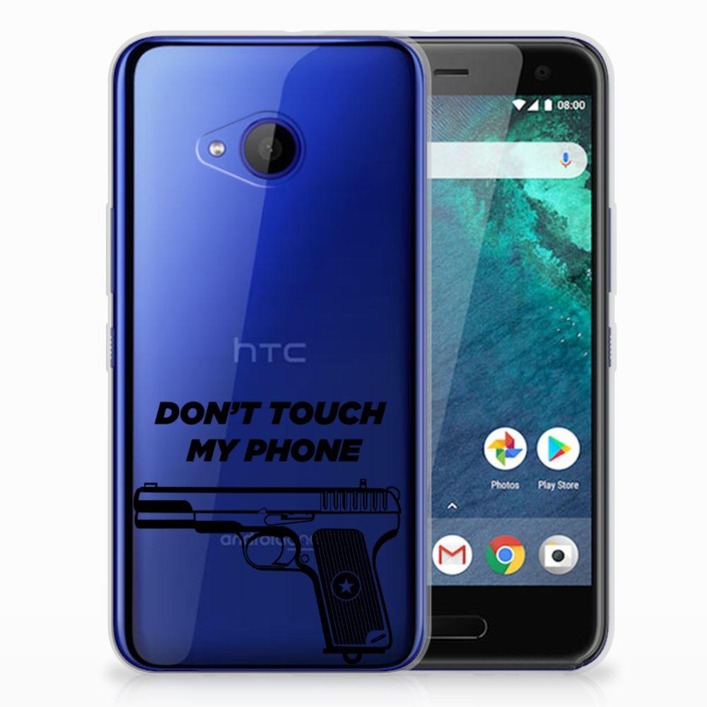 HTC U11 Life Uniek TPU Hoesje Pistol DTMP