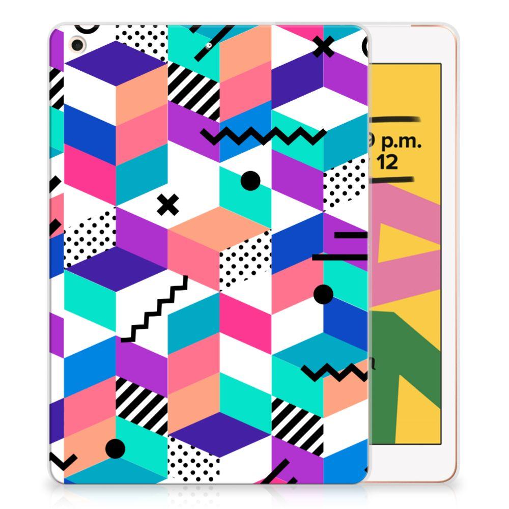 Apple iPad 10.2 (2019) Back Cover Blokken Kleurrijk
