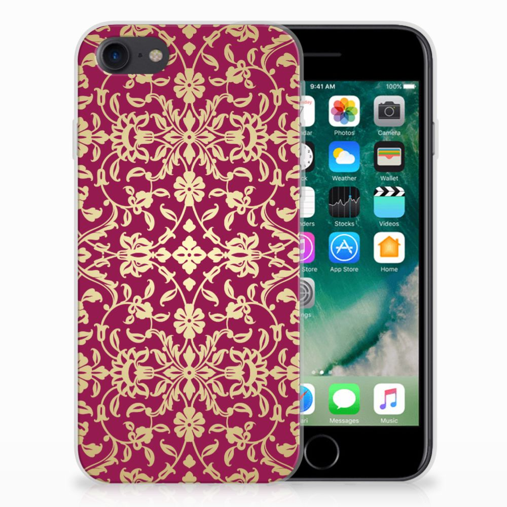 Siliconen Hoesje Apple iPhone 7 | 8 Barok Pink