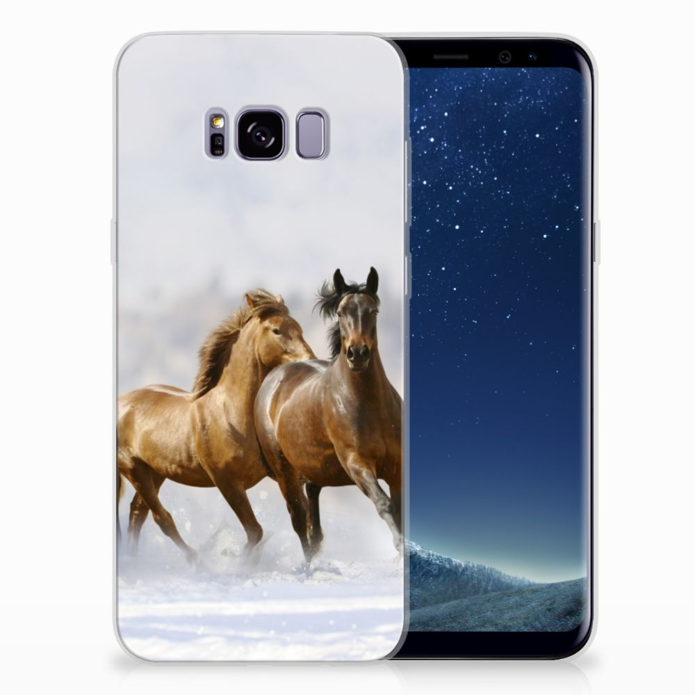 Samsung Galaxy S8 Plus Uniek TPU Hoesje Paarden