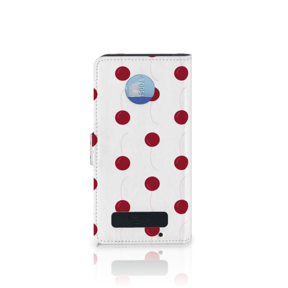 Motorola Moto Z Play Book Cover Cherries