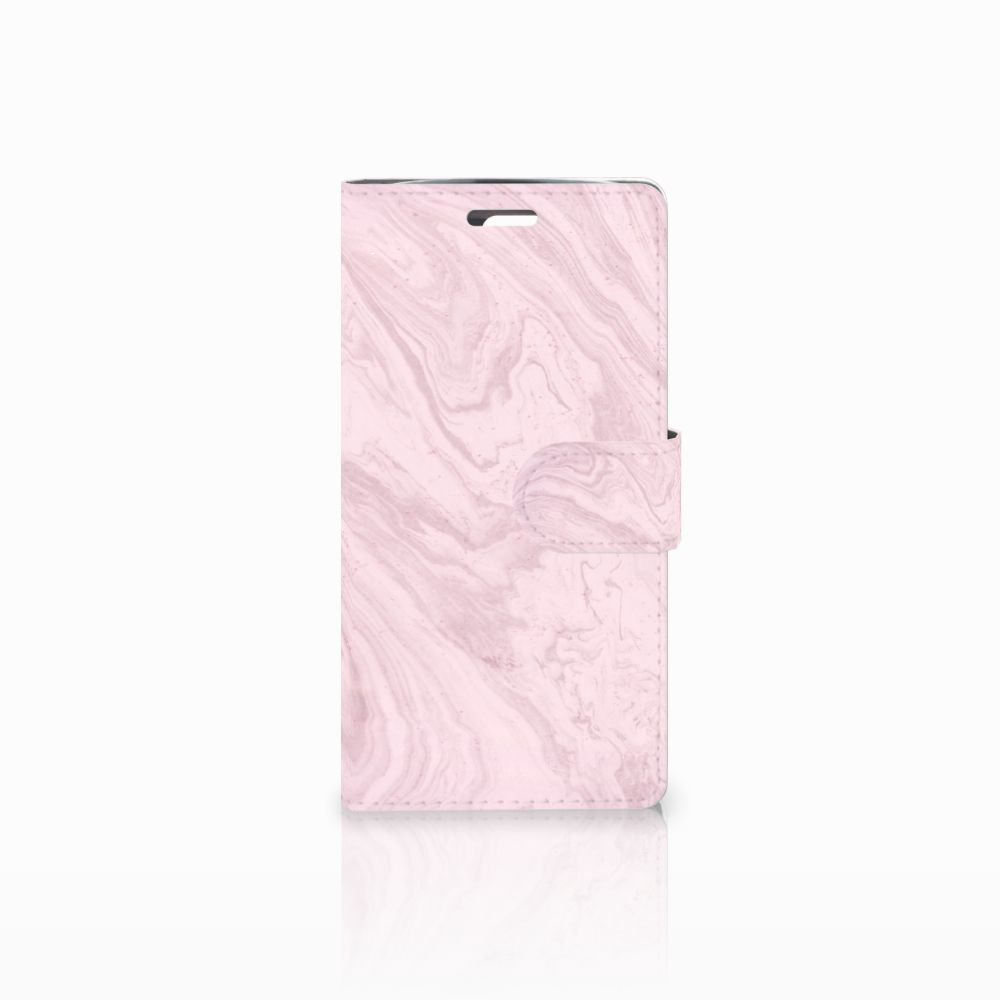 LG K10 2015 Bookcase Marble Pink