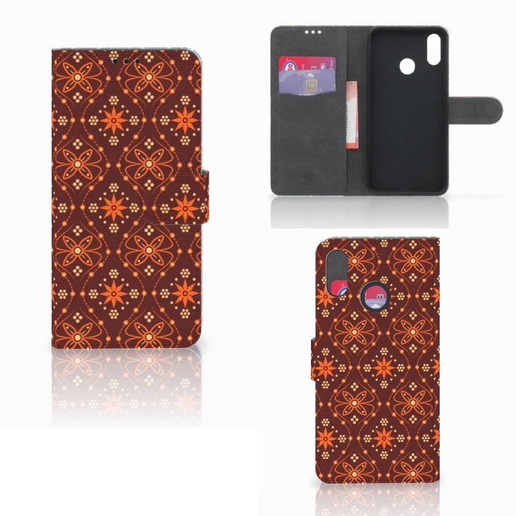 Huawei P Smart Plus Telefoon Hoesje Batik Brown