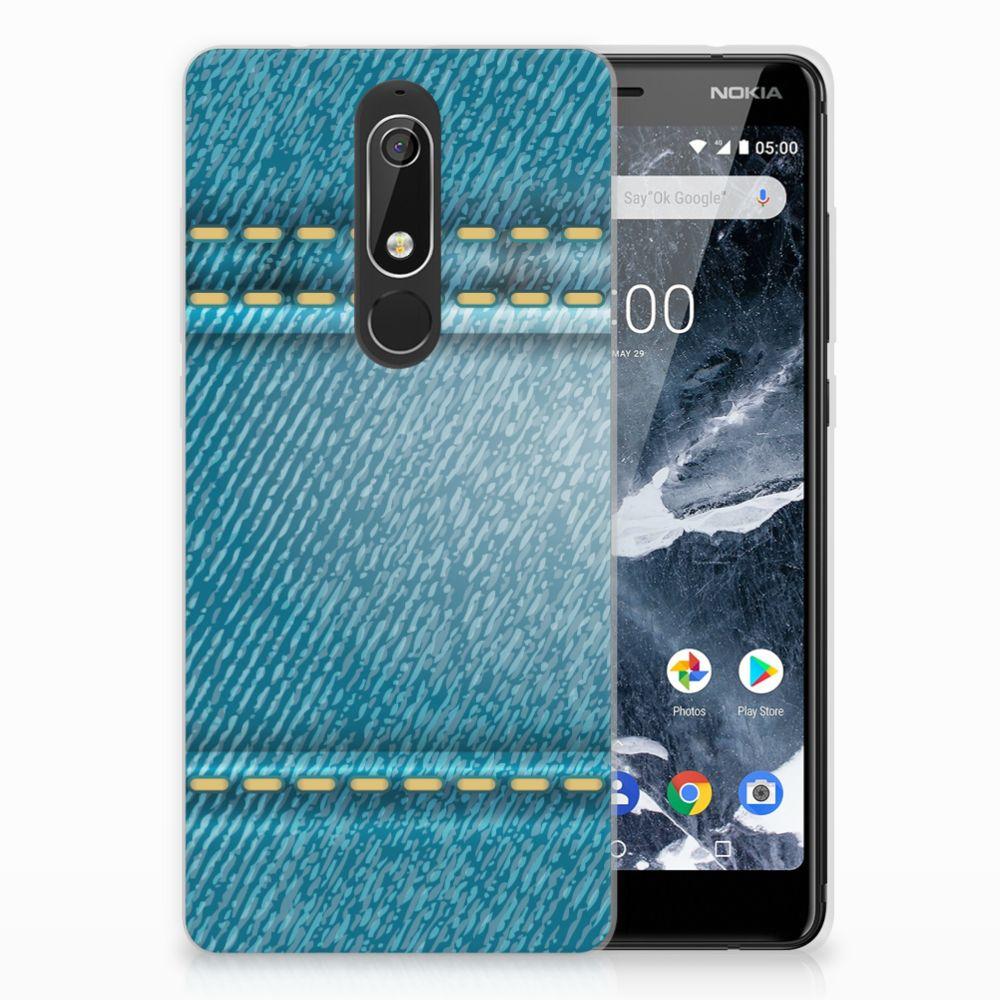 Nokia 5.1 (2018) TPU Hoesje Design Jeans