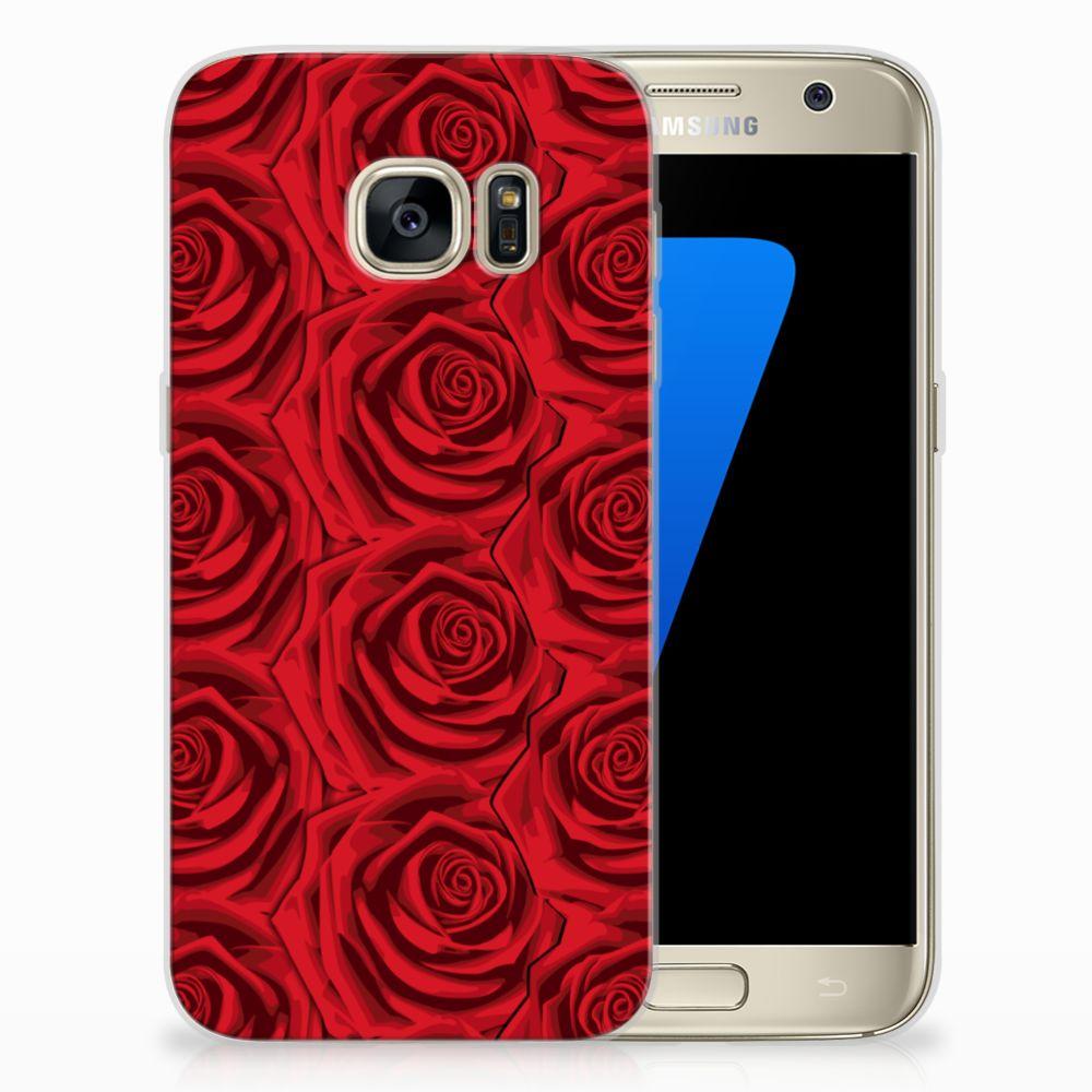 Samsung Galaxy S7 Uniek TPU Hoesje Red Roses