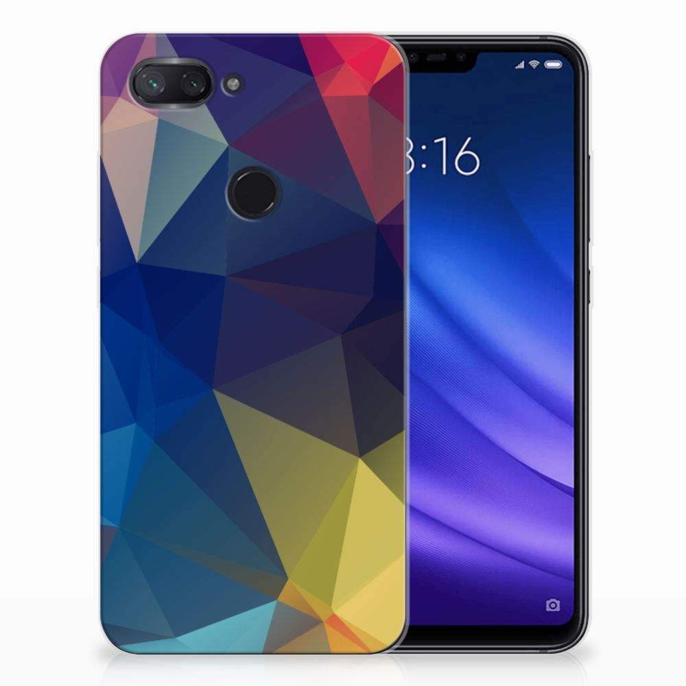 Xiaomi Mi 8 Lite TPU Hoesje Polygon Dark