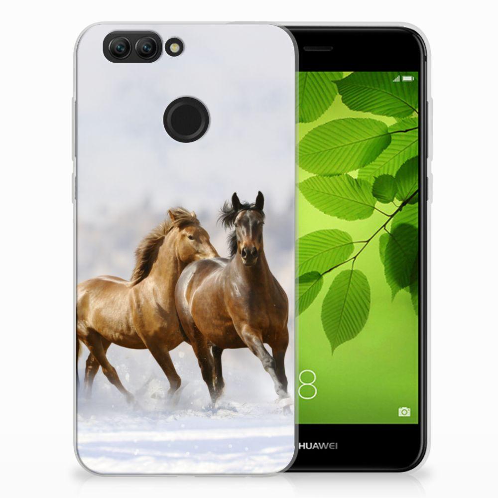 Huawei Nova 2 TPU Hoesje Paarden