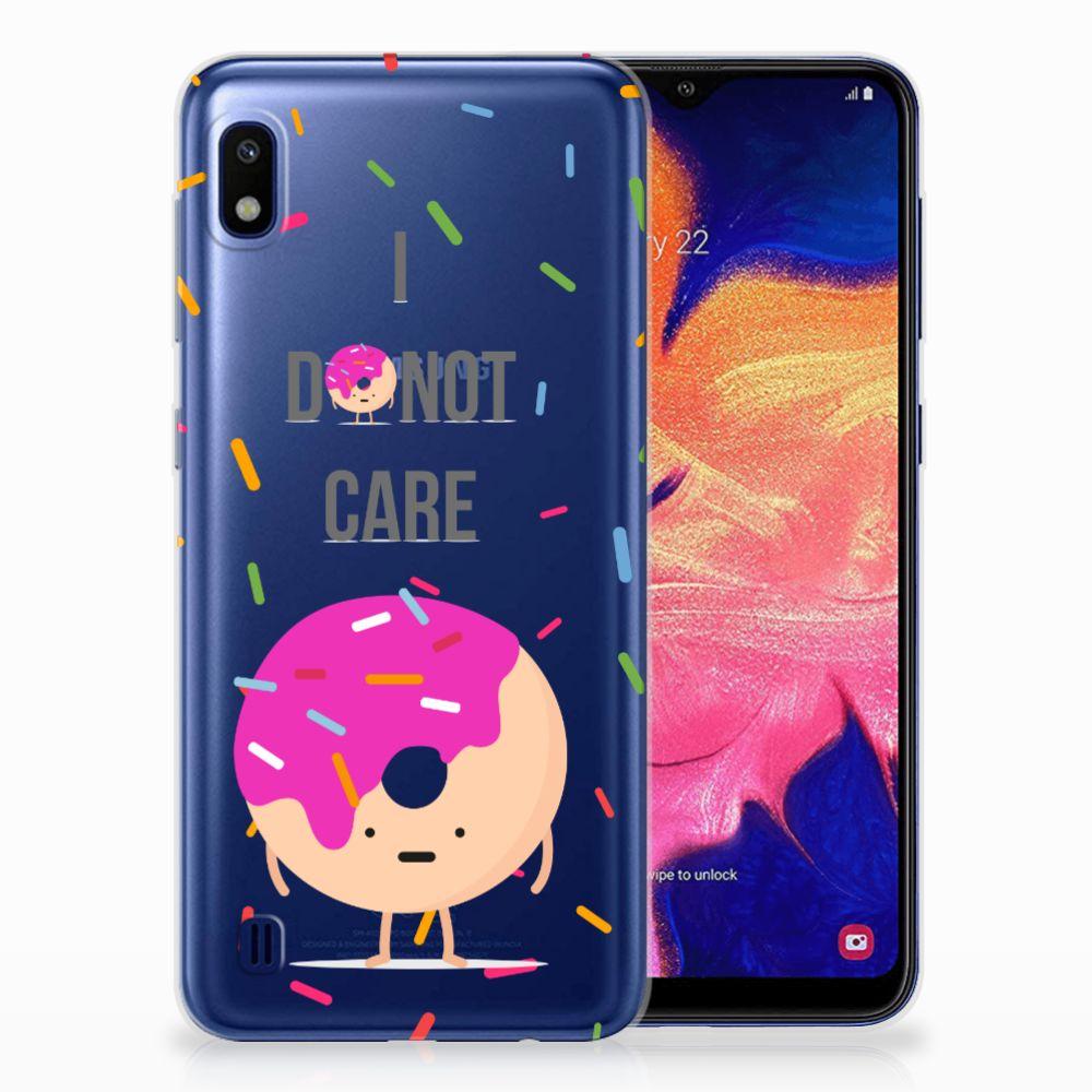 Samsung Galaxy A10 Siliconen Case Donut Roze