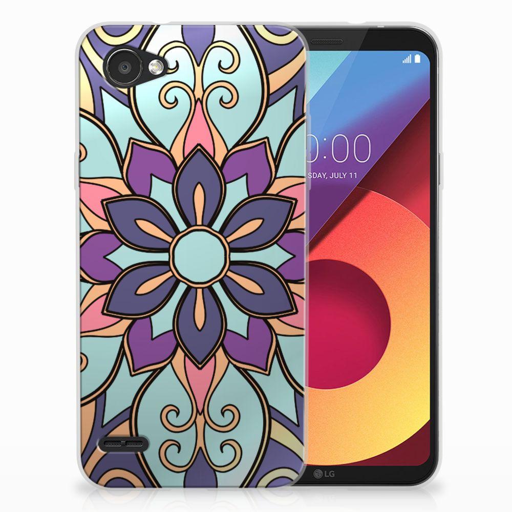 LG Q6 | LG Q6 Plus TPU Hoesje Design Purple Flower