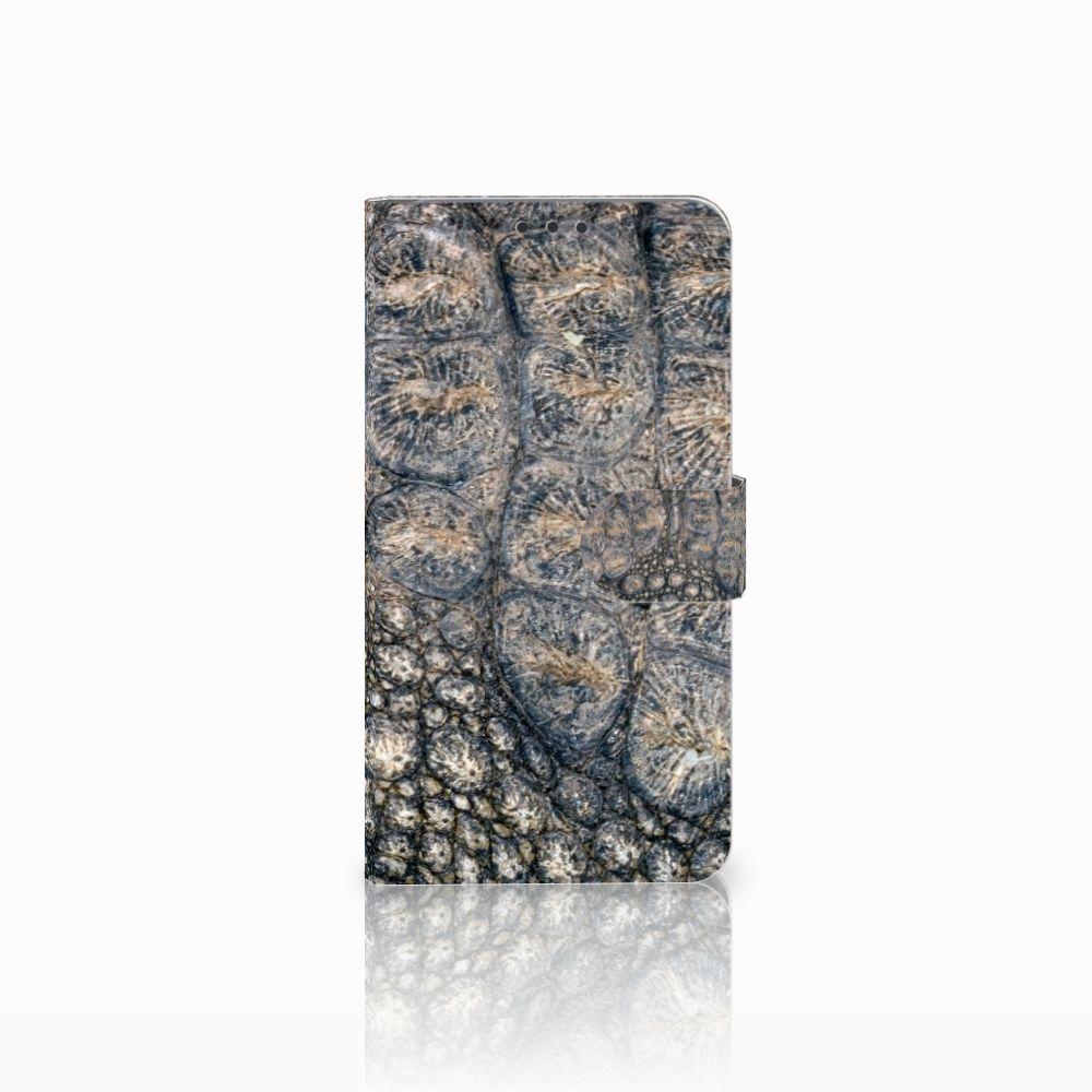 Microsoft Lumia 640 XL Telefoonhoesje met Pasjes Krokodillenprint