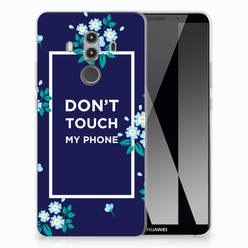 Huawei Mate 10 Pro TPU Hoesje Flowers Blue DTMP