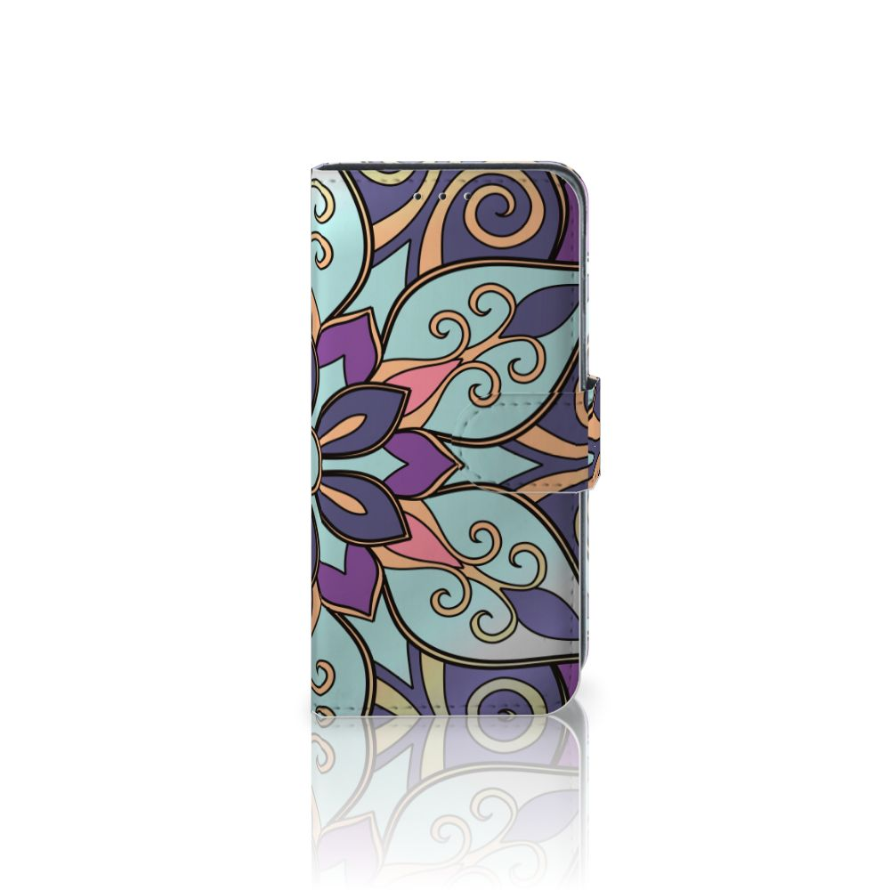 Samsung Galaxy J3 (2018) Boekhoesje Design Purple Flower