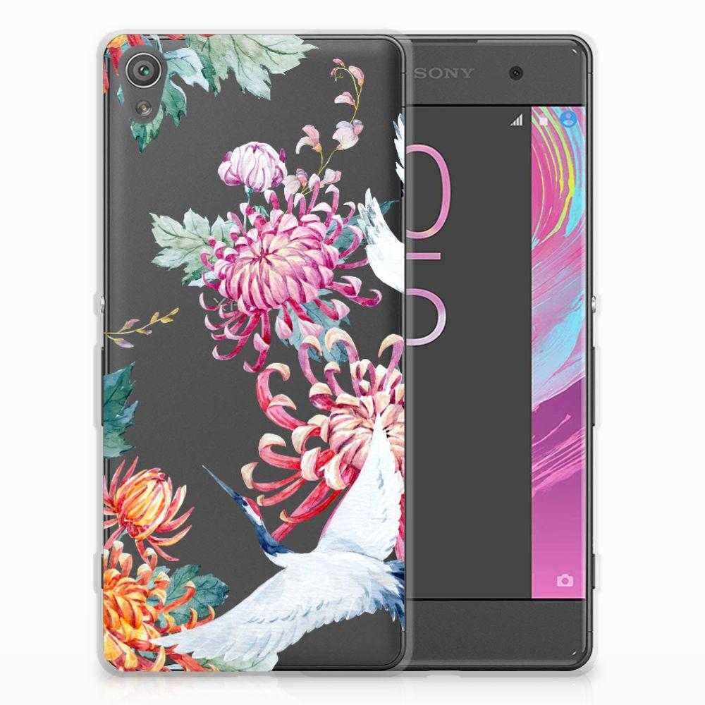 Sony Xperia XA | XA Dual Uniek TPU Hoesje Bird Flowers