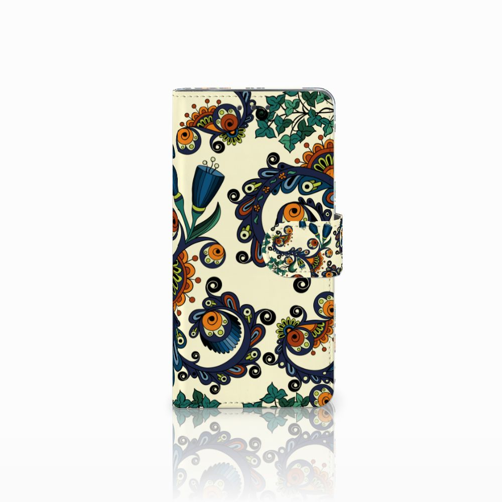 Wallet Case Motorola Moto X4 Barok Flower