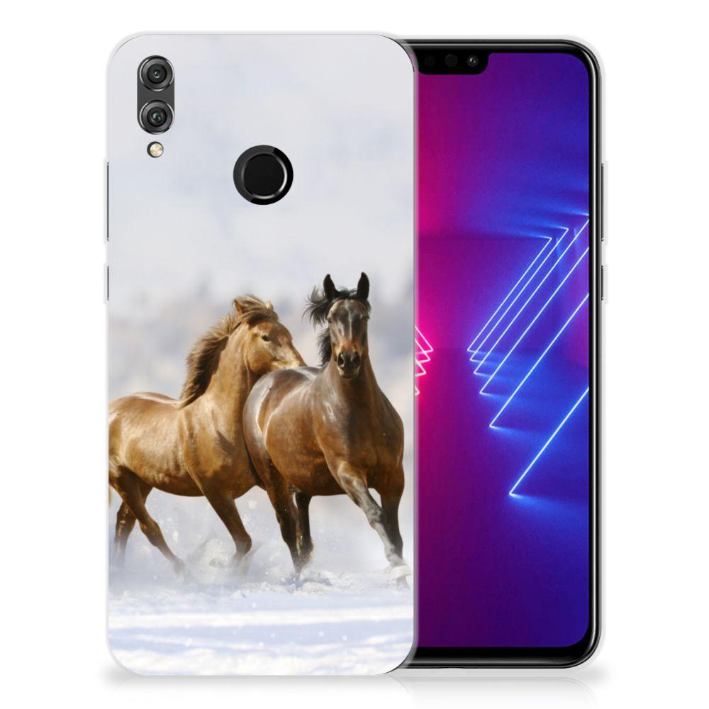 Honor 8X TPU Hoesje Paarden