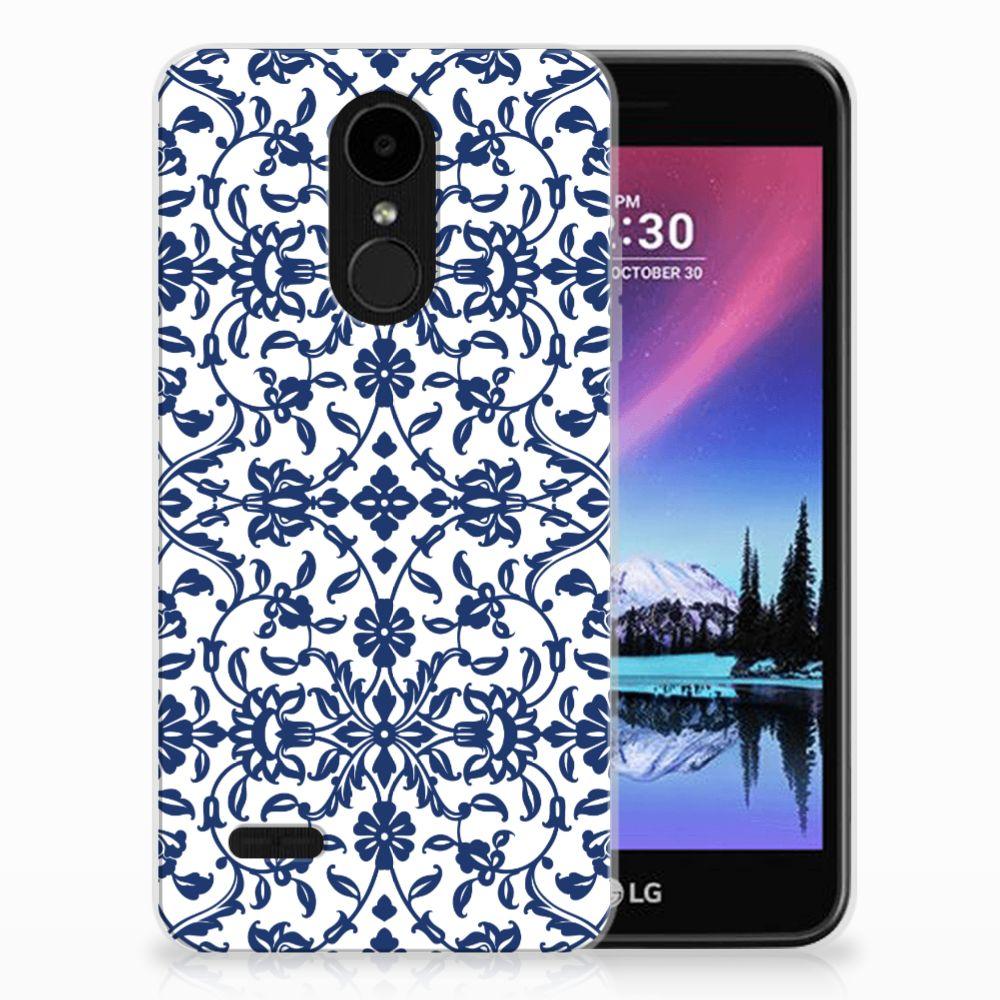 LG K4 (2017) TPU Hoesje Flower Blue