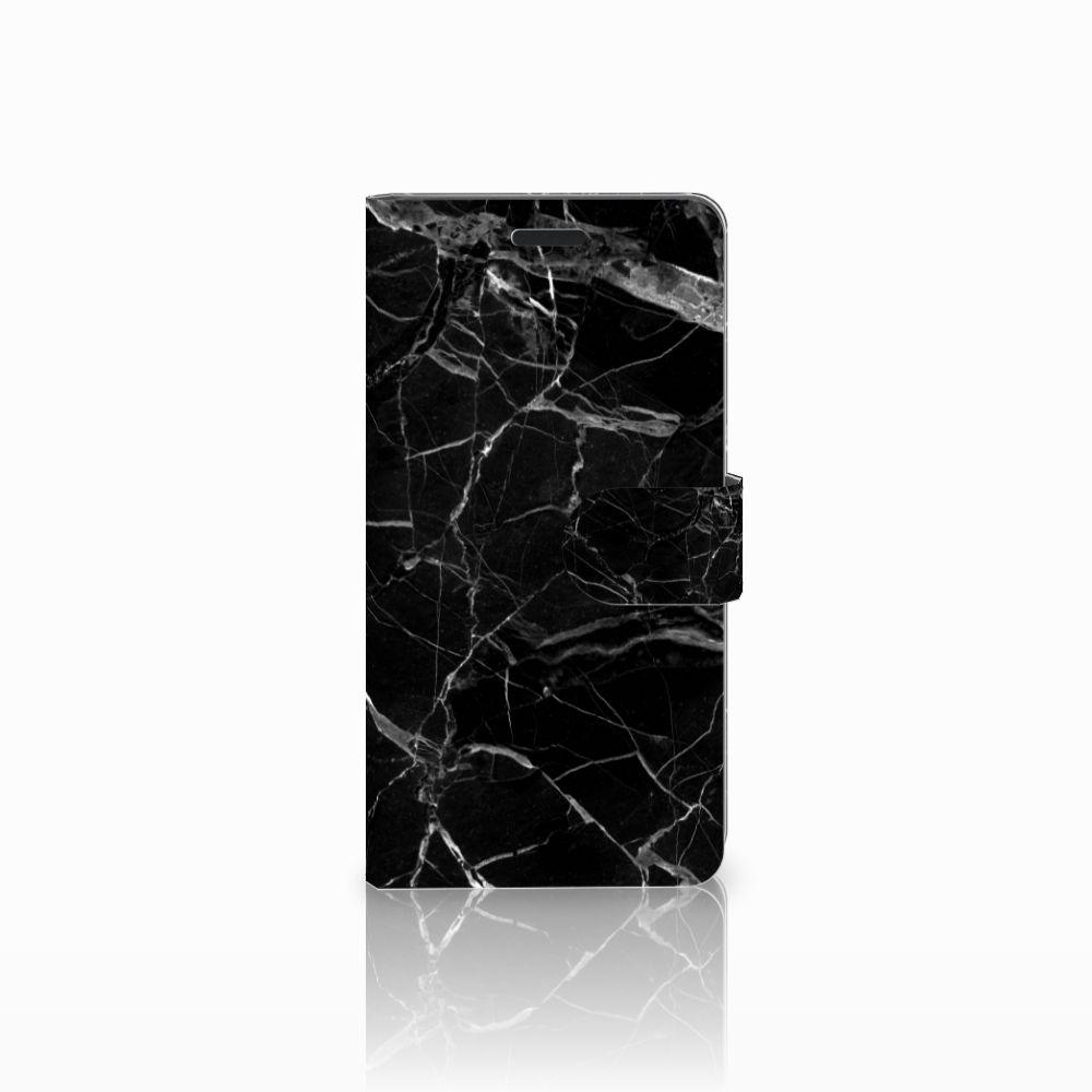 Samsung Galaxy A7 2015 Uniek Boekhoesje Marmer Zwart