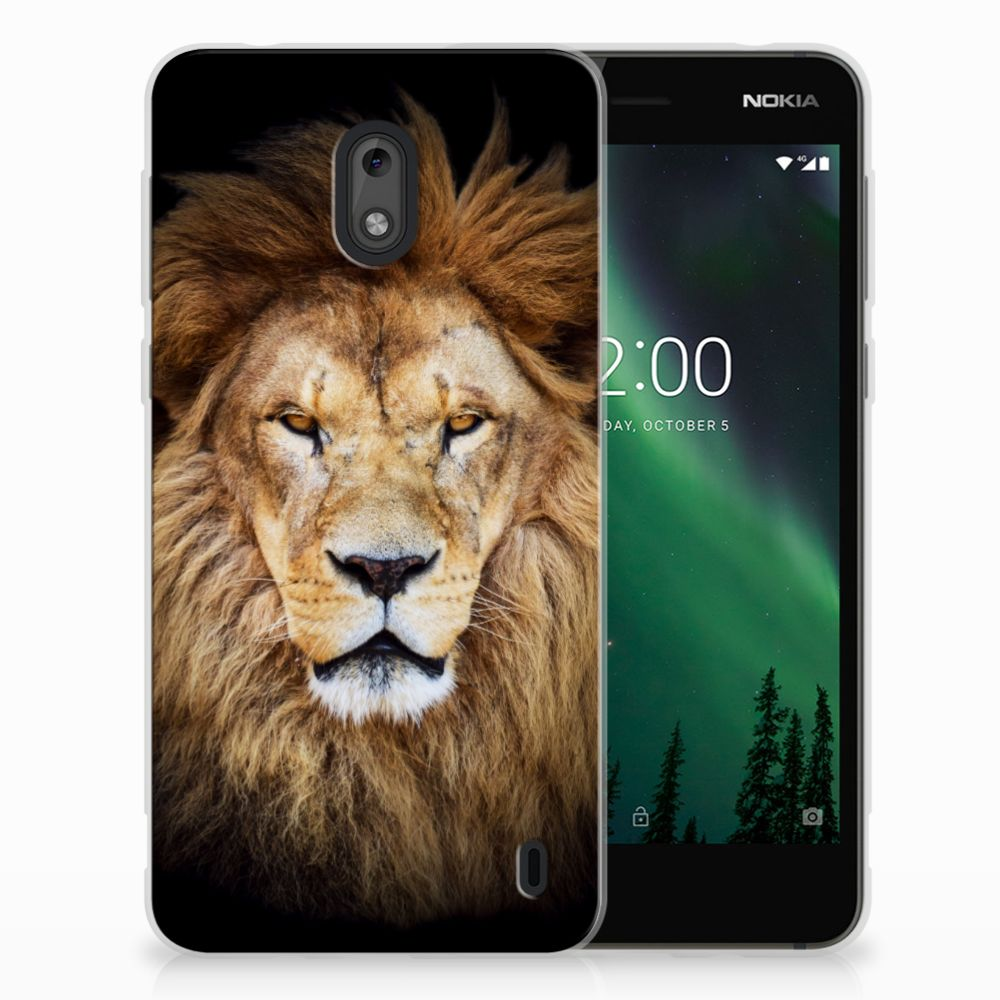 Nokia 2 TPU Hoesje Design Leeuw