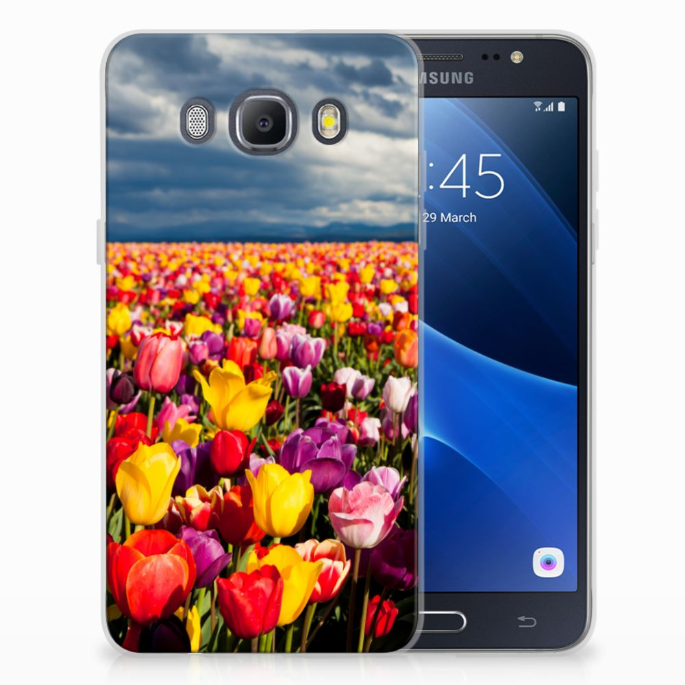 Samsung Galaxy J5 2016 Uniek TPU Hoesje Tulpen