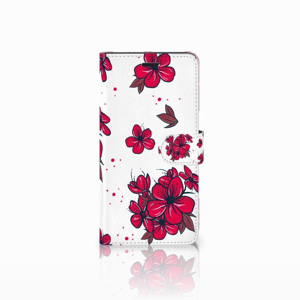 Wiko Pulp Fab 4G Boekhoesje Design Blossom Red