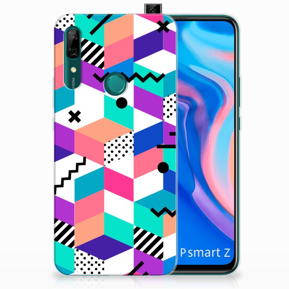 Huawei P Smart Z TPU Hoesje Blokken Kleurrijk