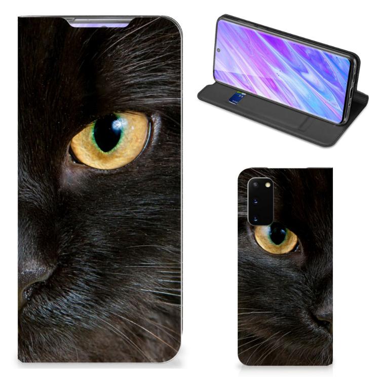 Samsung Galaxy S20 Hoesje maken Zwarte Kat