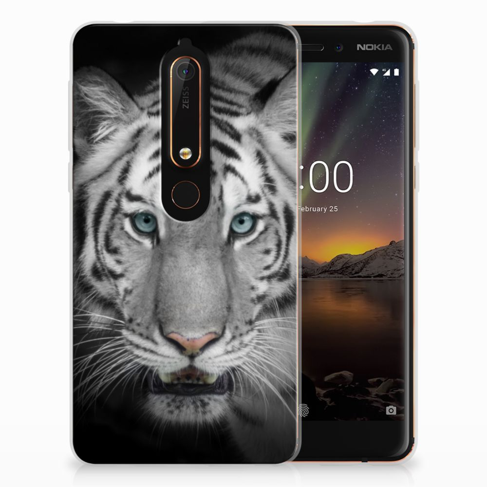 Nokia 6 (2018) Uniek TPU Hoesje Tijger