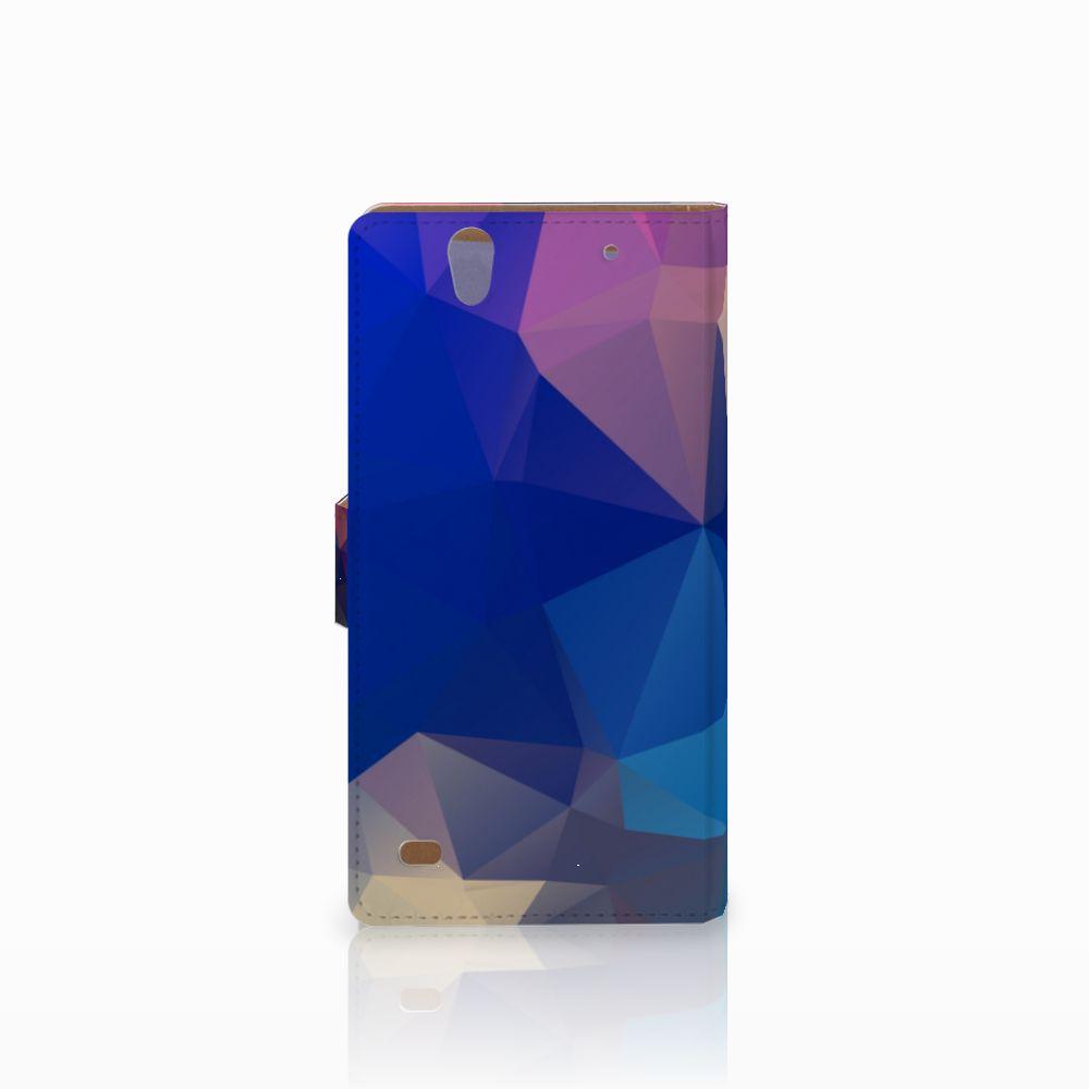 Sony Xperia C4 Bookcase Polygon Dark