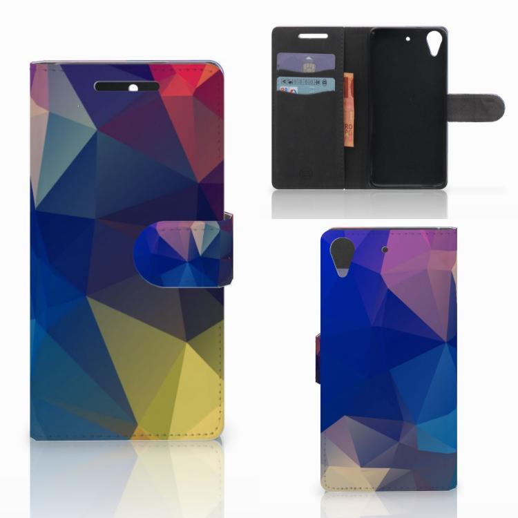 HTC Desire 628 Bookcase Polygon Dark