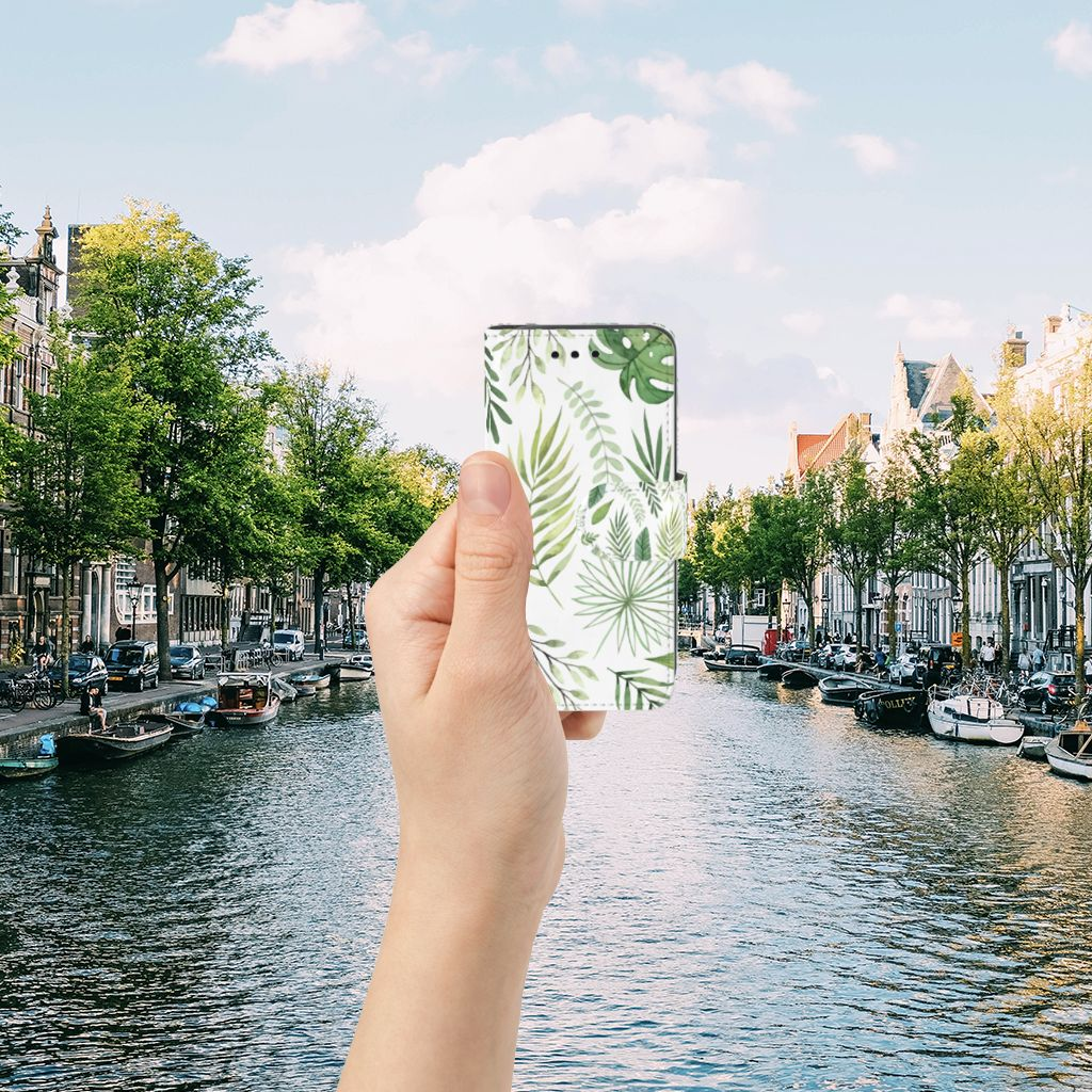 Samsung Galaxy S4 Mini i9190 Uniek Boekhoesje Leaves