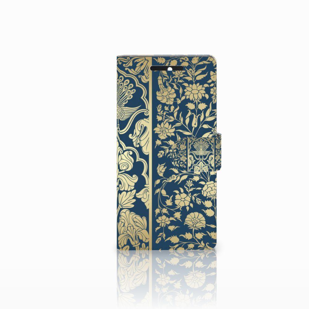 HTC Desire 628 Boekhoesje Golden Flowers