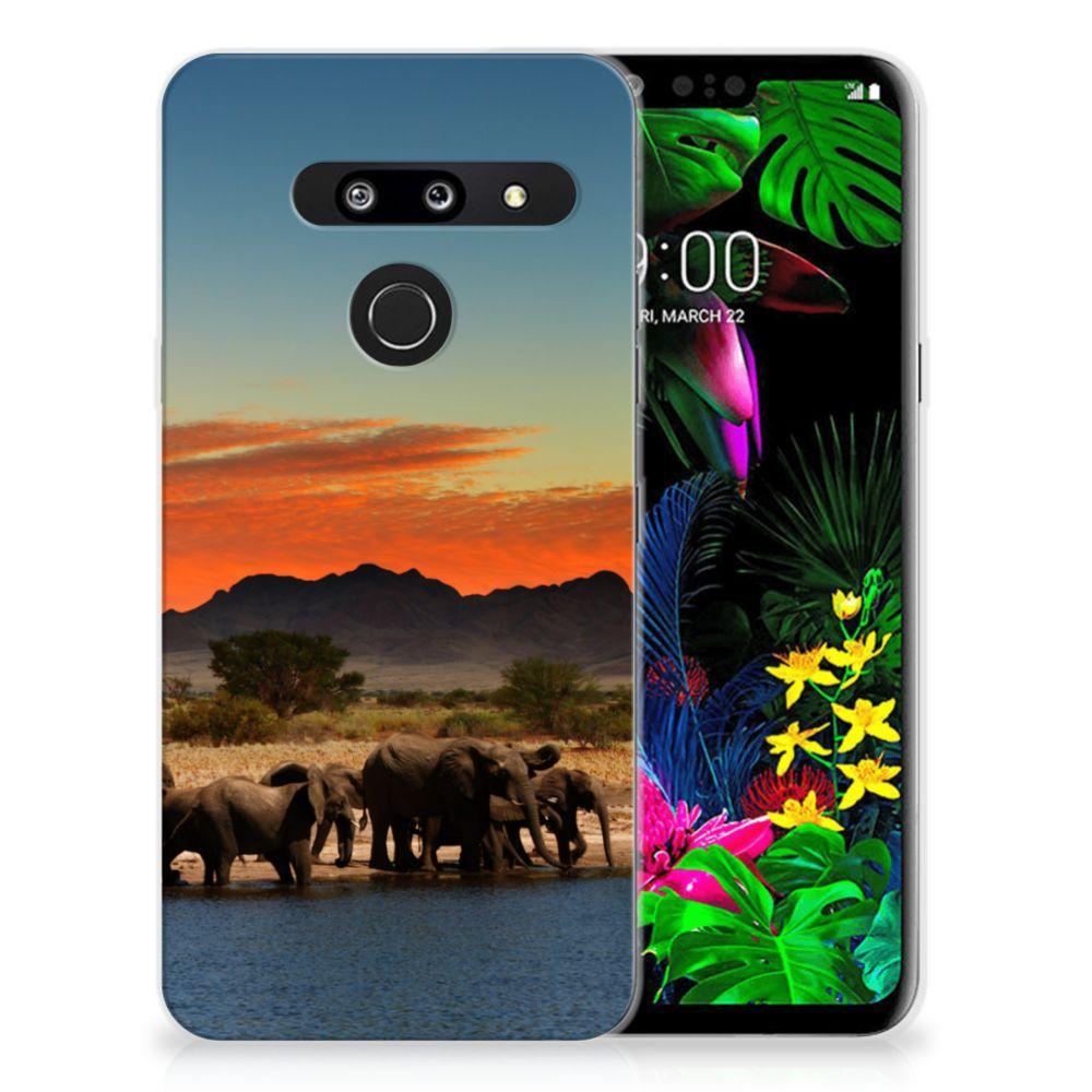 LG G8 Thinq TPU Hoesje Olifanten