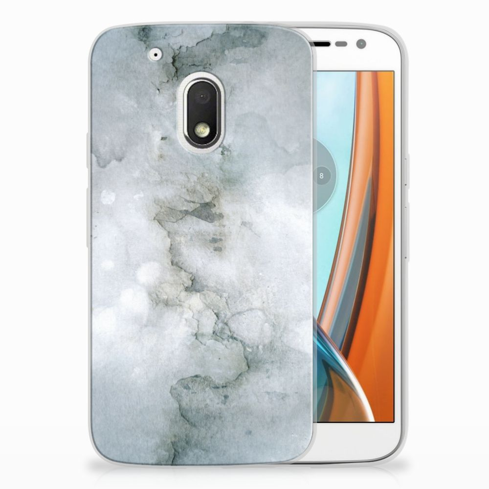 Motorola Moto G4 Play Uniek TPU Hoesje Painting Grey