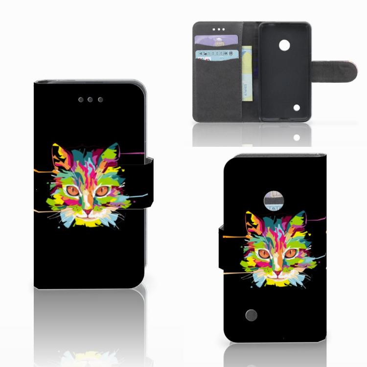 Nokia Lumia 530 Leuke Hoesje Cat Color