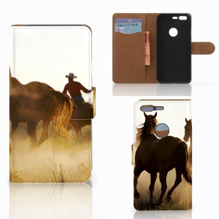 Google Pixel Telefoonhoesje met Pasjes Design Cowboy