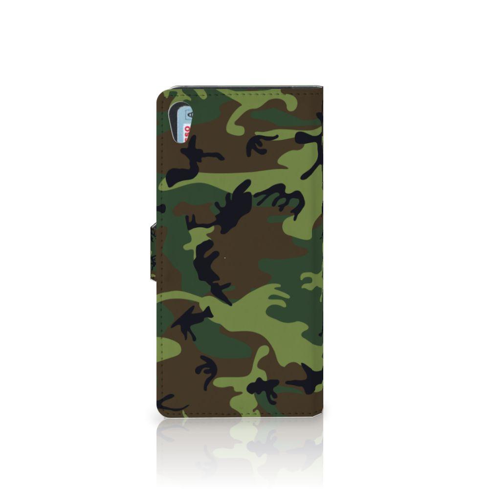 Sony Xperia XA1 Ultra Telefoon Hoesje Army Dark