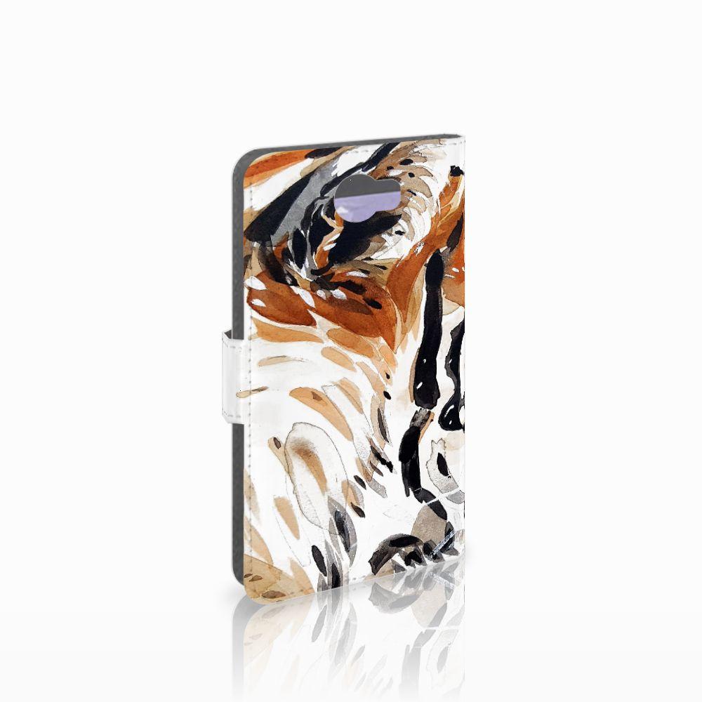 Huawei Y5 2 | Y6 II Compact Uniek Boekhoesje Watercolor Tiger