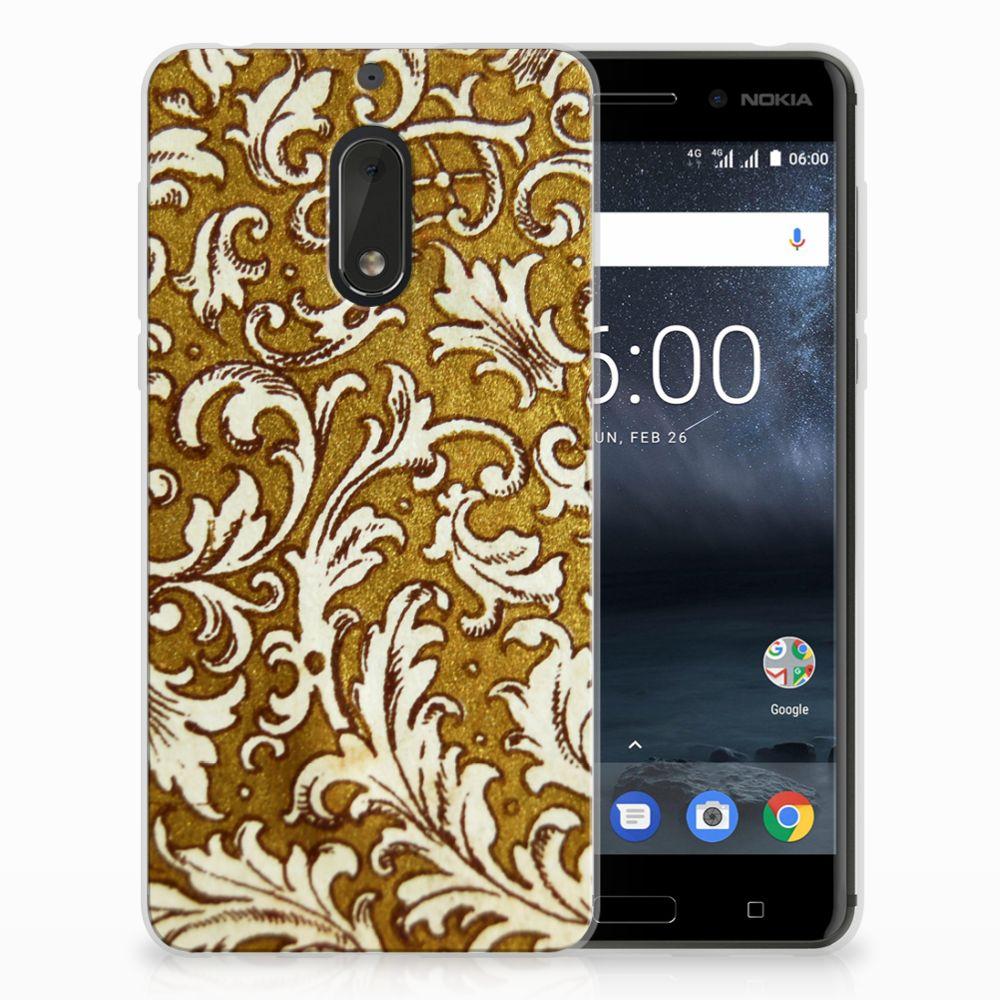Siliconen Hoesje Nokia 6 Barok Goud