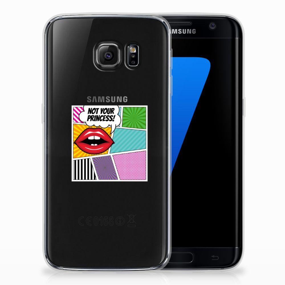 Samsung Galaxy S7 Edge Uniek TPU Hoesje Popart Princess