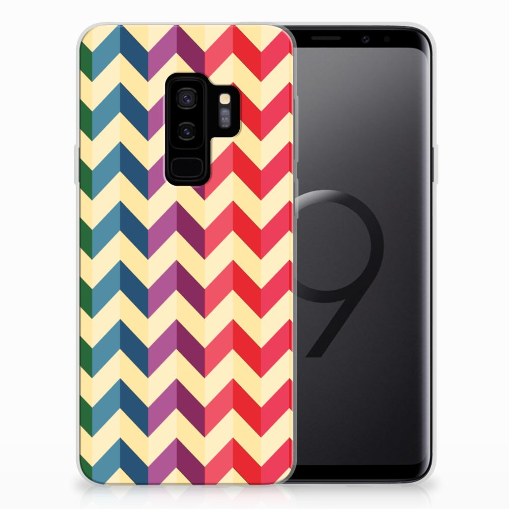 Samsung Galaxy S9 Plus TPU bumper Zigzag Multi Color