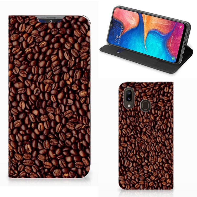 Samsung Galaxy A30 Flip Style Cover Koffiebonen