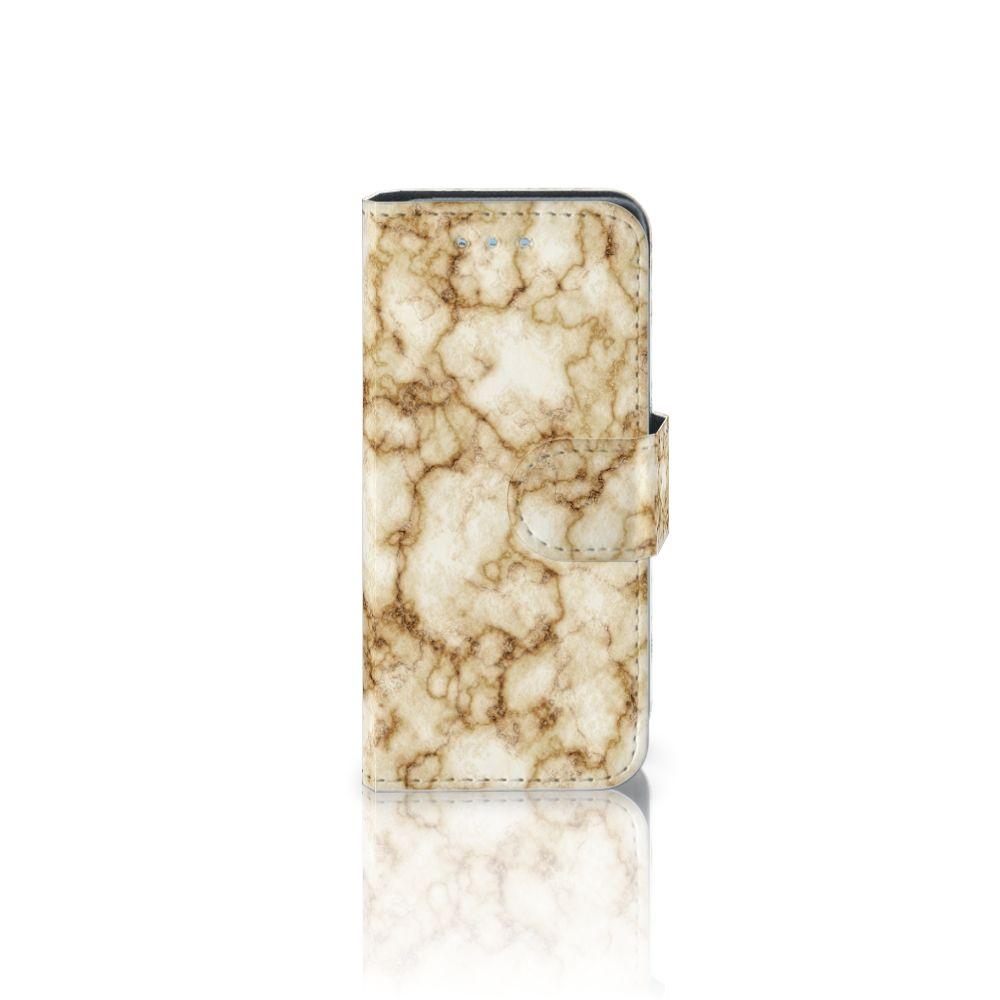 Samsung Galaxy S4 Mini i9190 Uniek Boekhoesje Marmer Goud