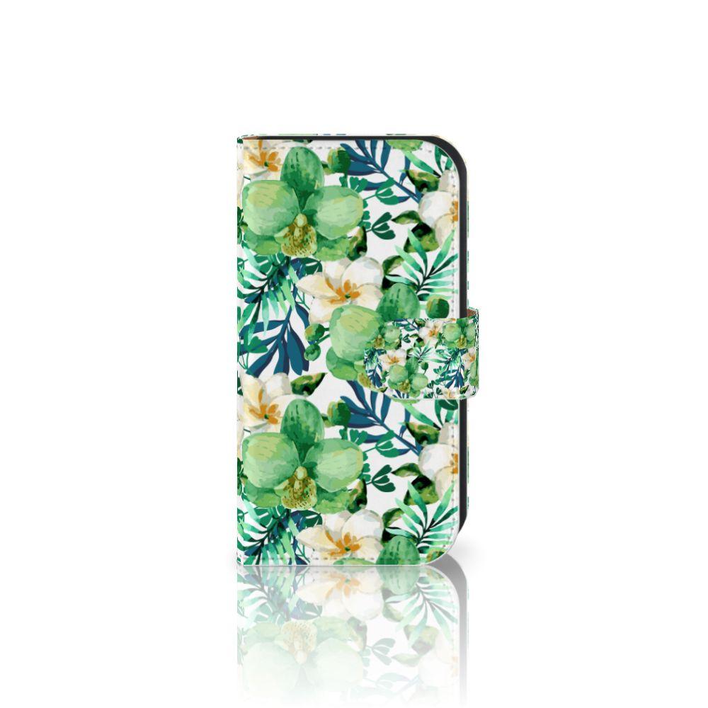 Samsung Galaxy Ace 4 4G (G357-FZ) Uniek Boekhoesje Orchidee Groen