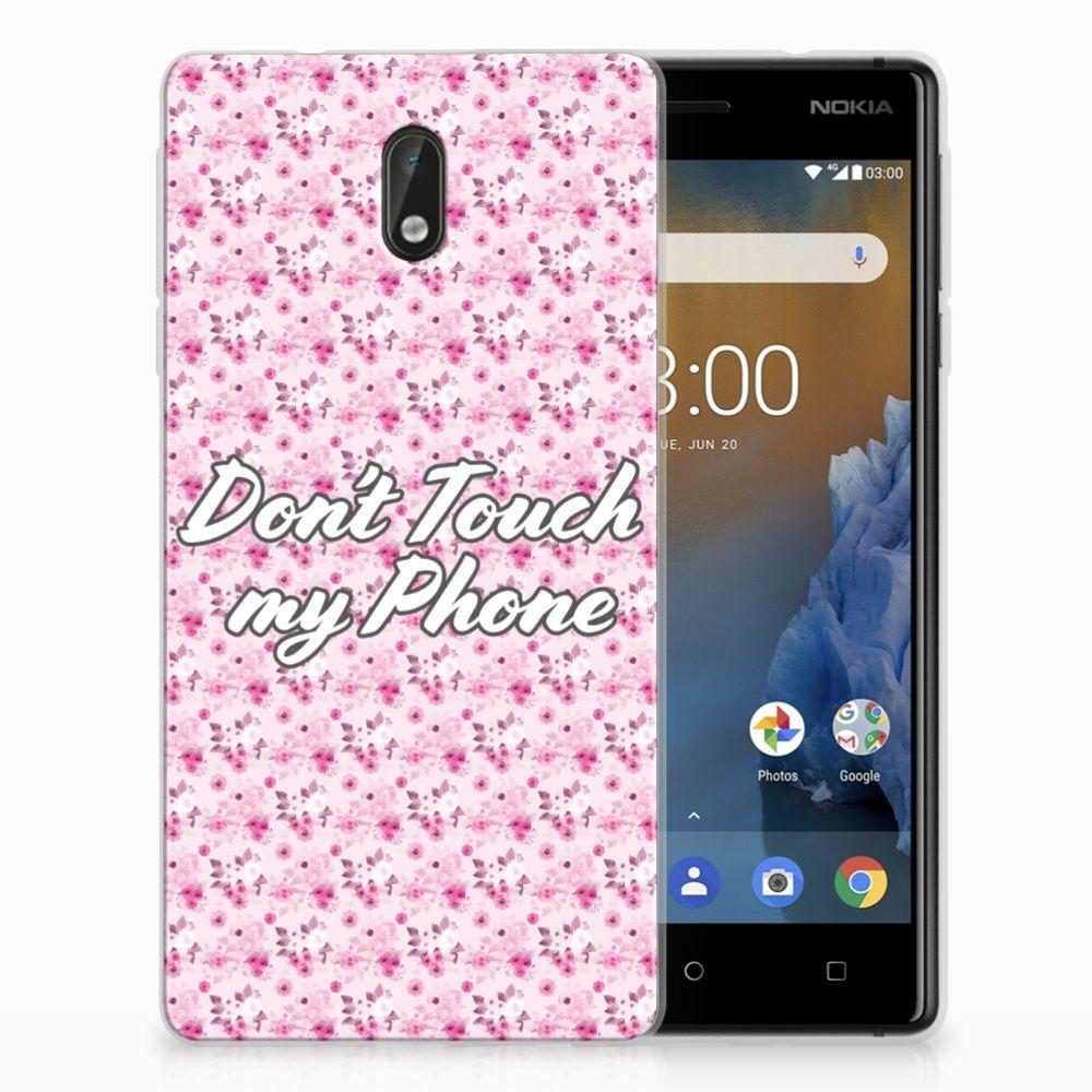 Nokia 3 Uniek TPU Hoesje Flowers Pink DTMP