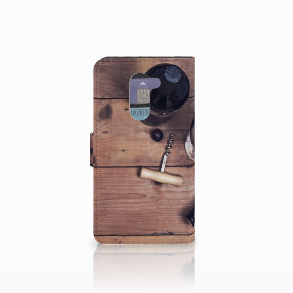Huawei Honor 6X Book Cover Wijn