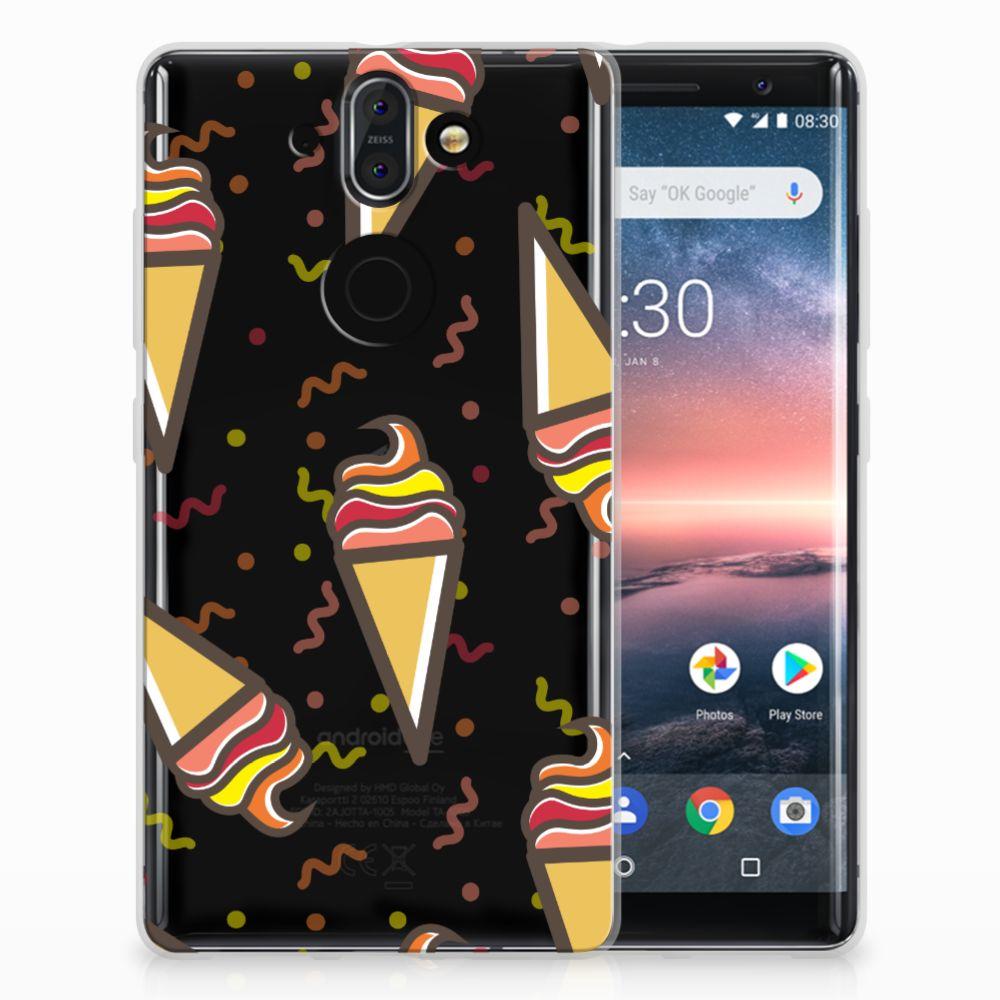 Nokia 9 | 8 Sirocco Siliconen Case Icecream